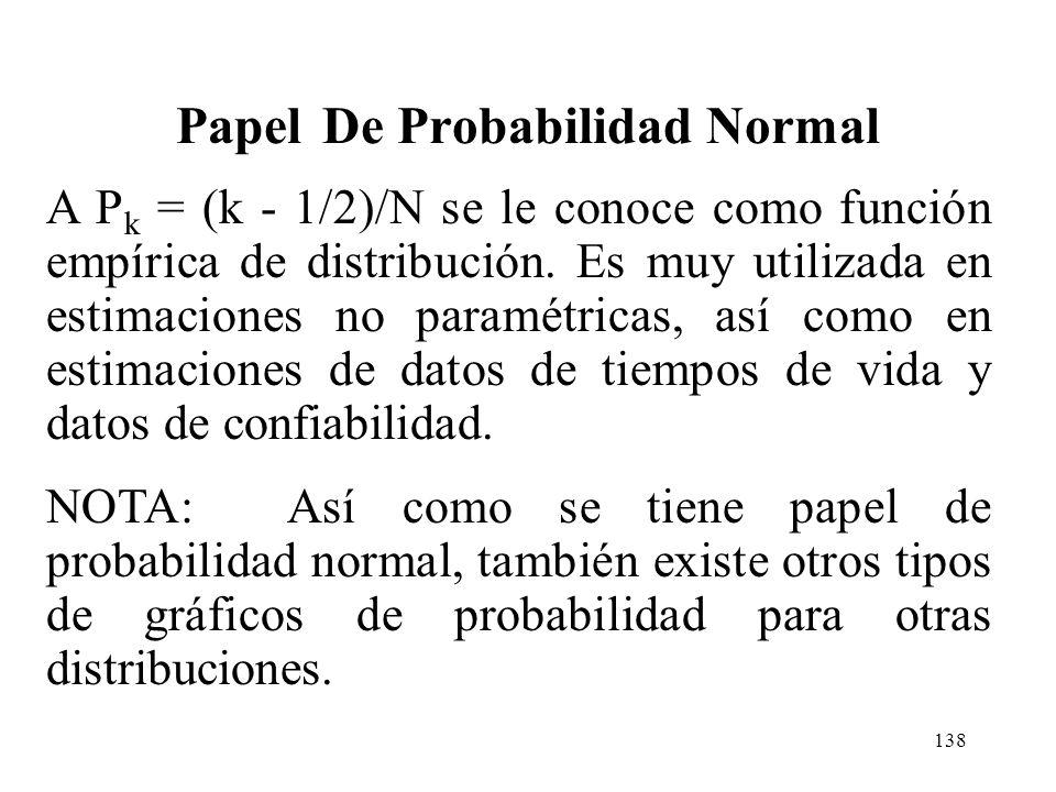137 Ejemplo Papel De Probabilidad Normal