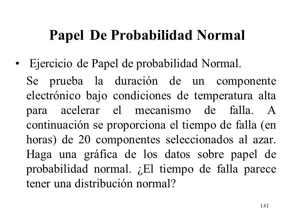 140 Papel De Probabilidad Normal