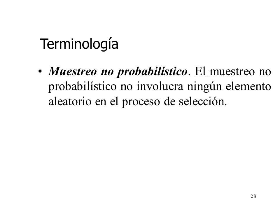 27 También debemos definir una probabilidad, (1- ) que especifique la fracción de veces en muestreo repetido, que requeriremos que el error de estimac