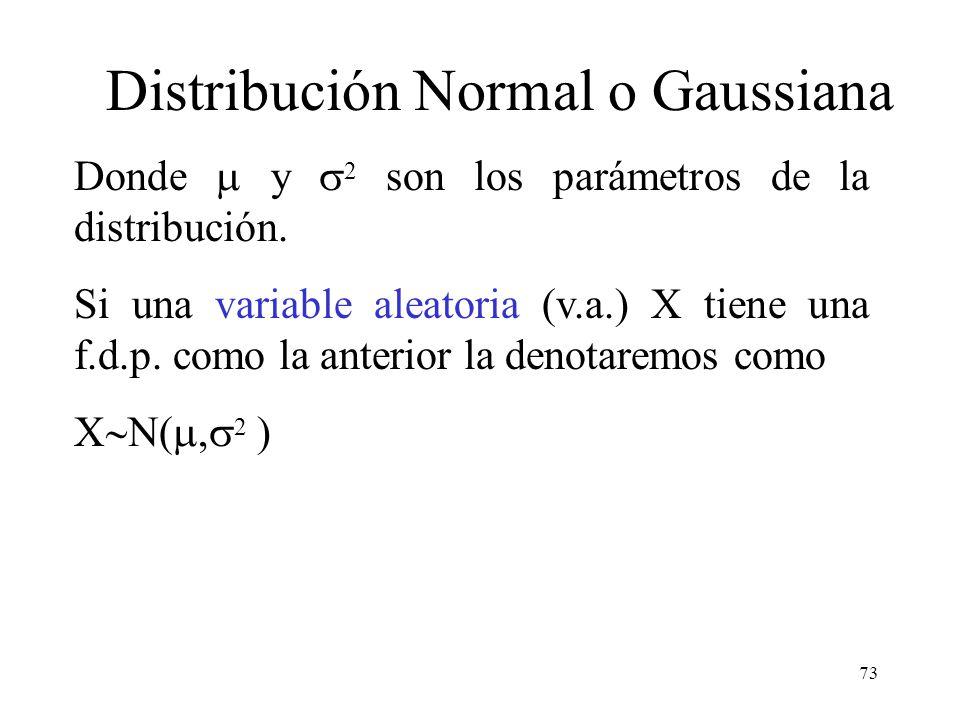 72 La distribución de probabilidad más importante en el campo de la probabilidad y la estadística es la distribución de probabilidad normal, que tiene