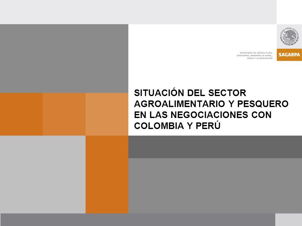 SITUACIÓN DEL SECTOR AGROALIMENTARIO Y PESQUERO EN LAS NEGOCIACIONES CON COLOMBIA Y PERÚ