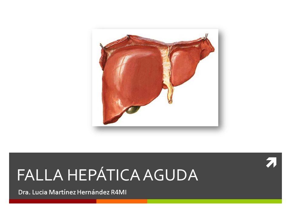 FALLA HEPÁTICA AGUDA Dra. Lucia Martínez Hernández R4MI