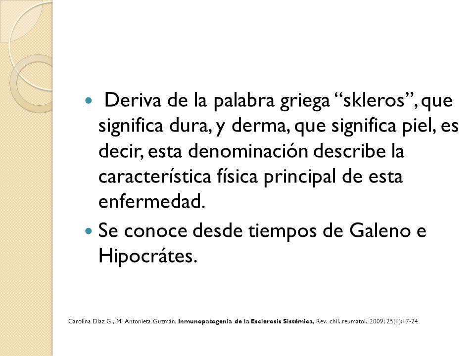 Clasificación Harrison, principles of Internal Medicine, Scleroderma Mc Graw Hill, ed 17.