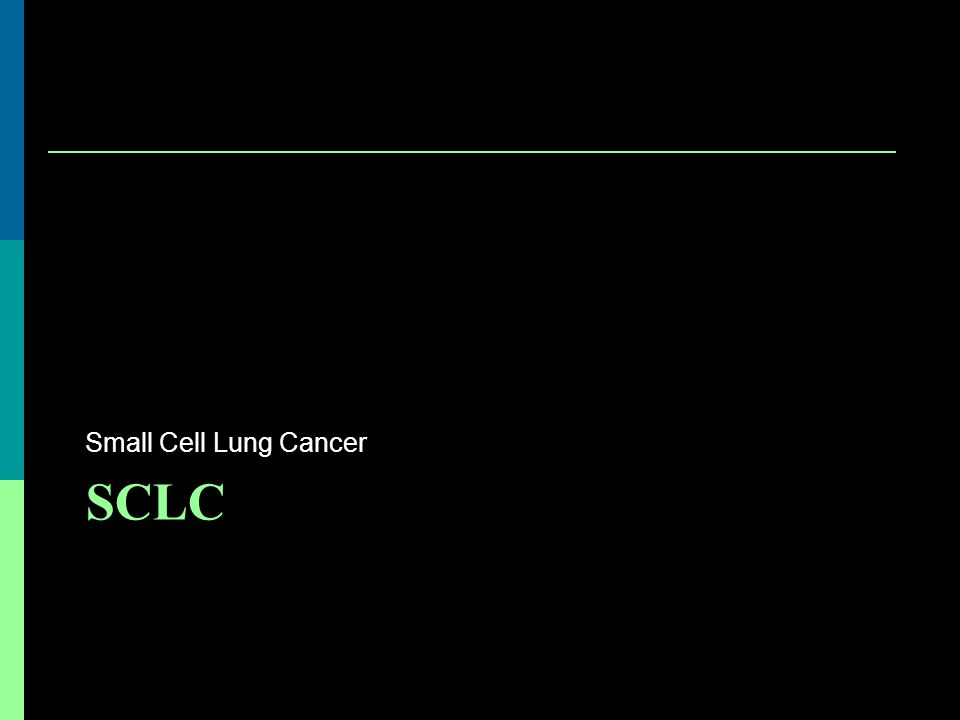 SCLC Small Cell Lung Cancer