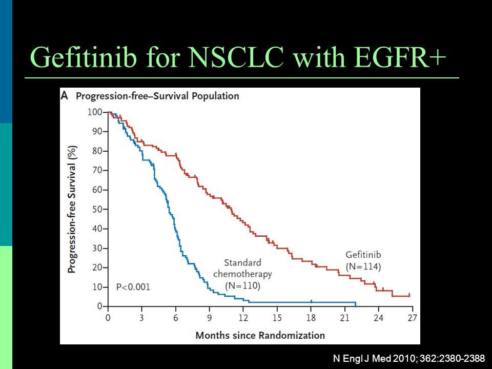 Gefitinib for NSCLC with EGFR+ N Engl J Med 2010; 362:2380-2388