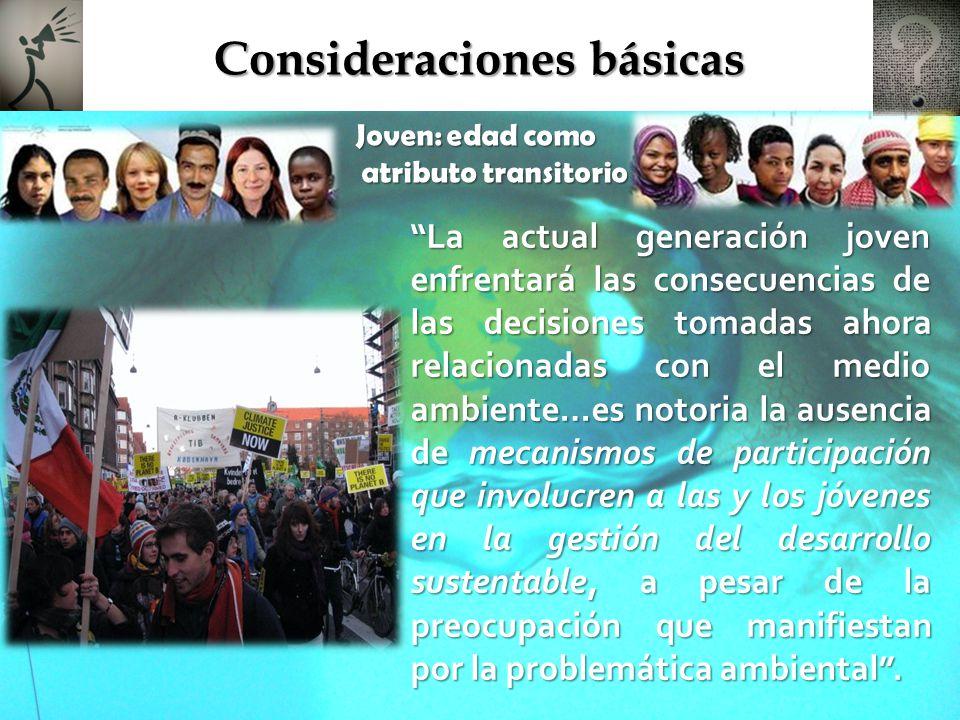 Contenido Consideraciones básicas Consideraciones básicas Encuentro Nacional de Jóvenes ante el Cambio Climático Encuentro Nacional de Jóvenes ante el Cambio Climático Eventos previos a COP16 Eventos previos a COP16 Particularidades de eventos previos a COP16 Particularidades de eventos previos a COP16 Declaratoria de las y los jóvenes mexicanos frente al Cambio Climático Declaratoria de las y los jóvenes mexicanos frente al Cambio Climático