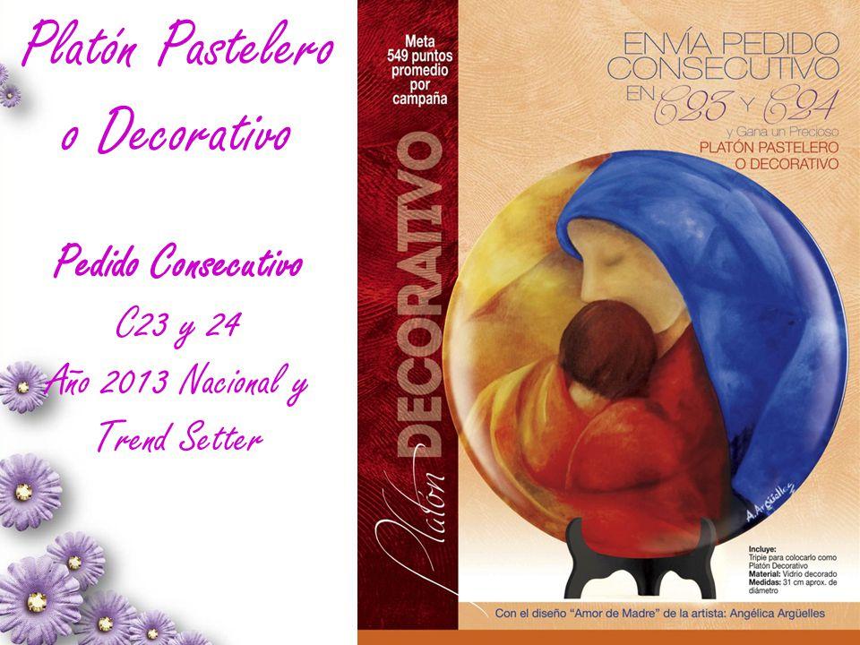 Platón Pastelero o Decorativo Pedido Consecutivo C23 y 24 Año 2013 Nacional y Trend Setter