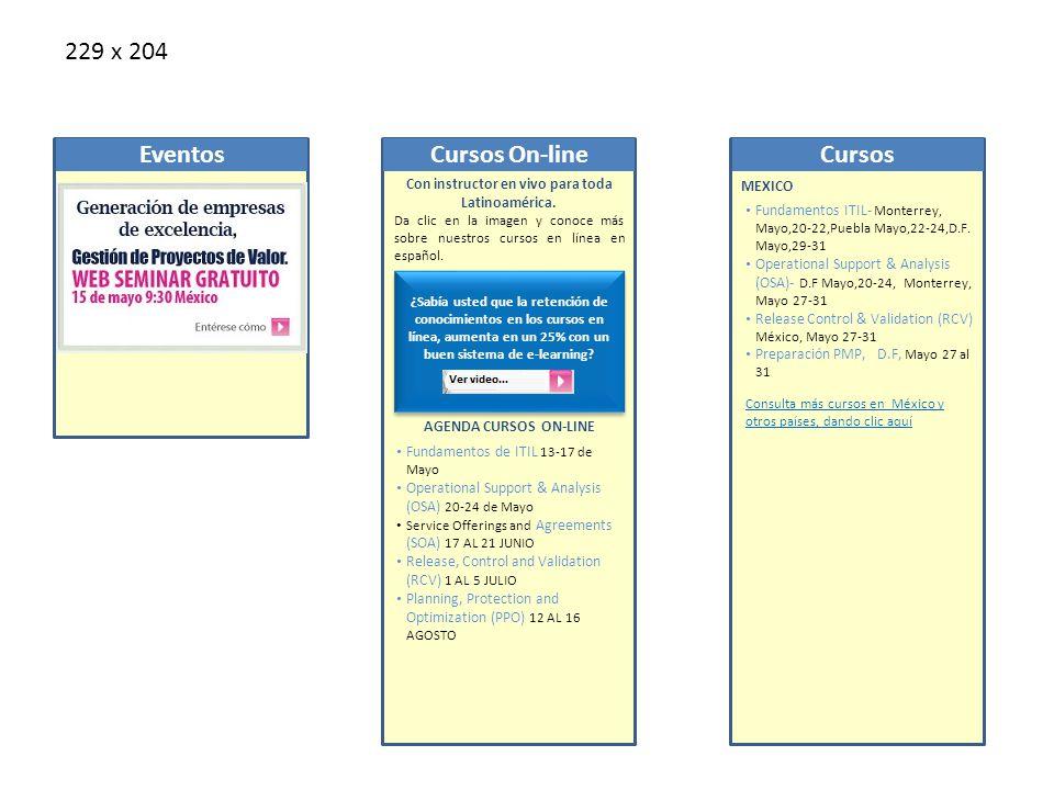 Calendario MÉXICO Fundamentos ITIL- Monterrey, Mayo,20-22,Puebla Mayo,22-24,D.F.
