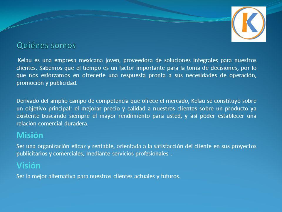 Kelau es una empresa mexicana joven, proveedora de soluciones integrales para nuestros clientes. Sabemos que el tiempo es un factor importante para la