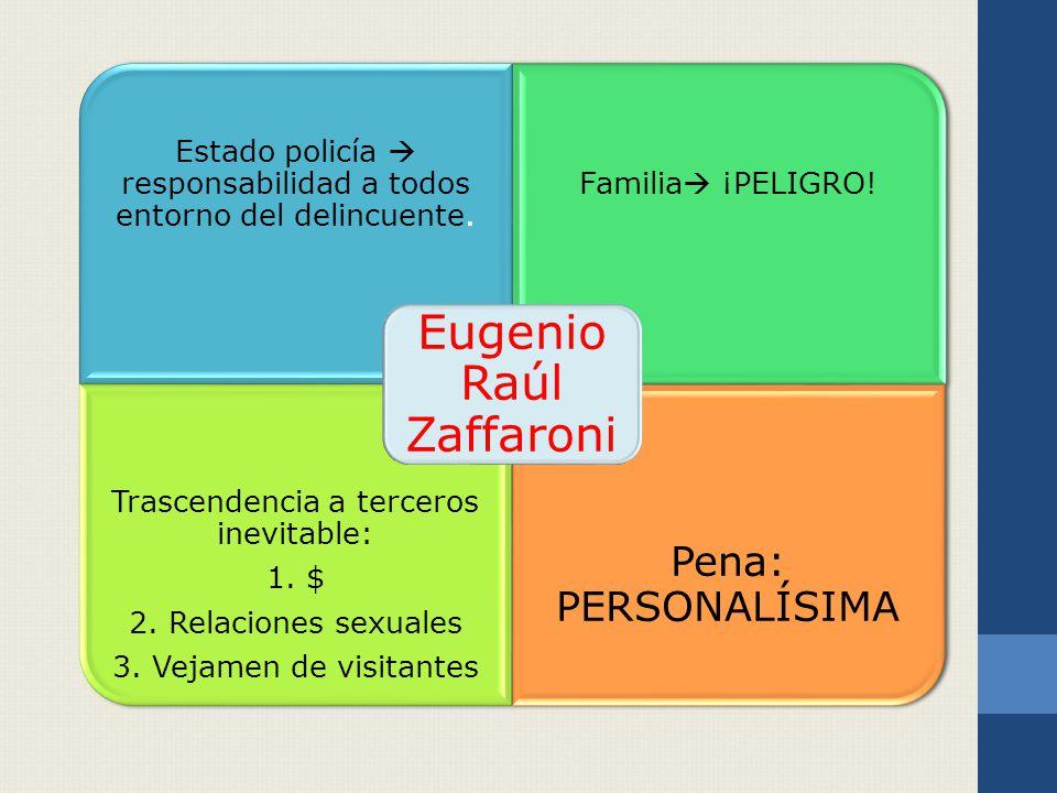 Estado policía responsabilidad a todos entorno del delincuente.