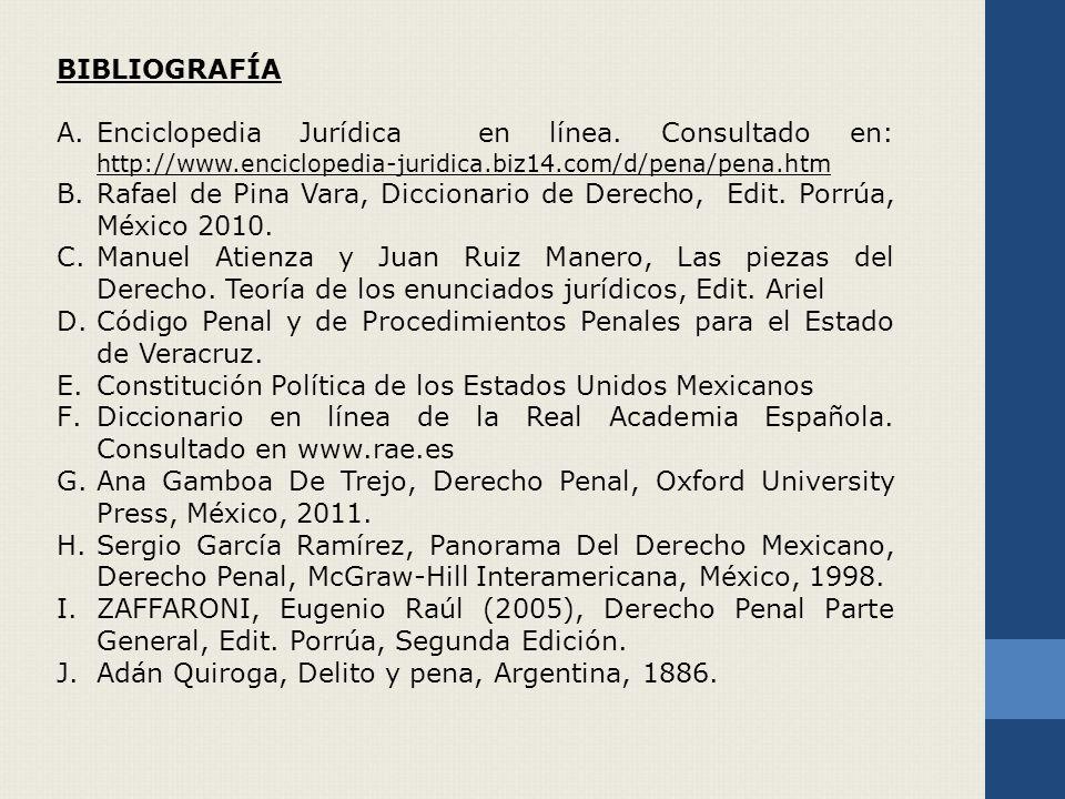 BIBLIOGRAFÍA A.Enciclopedia Jurídica en línea.