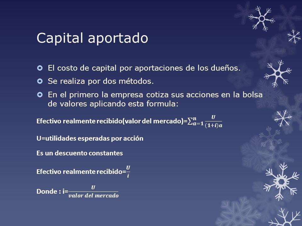 Capital aportado