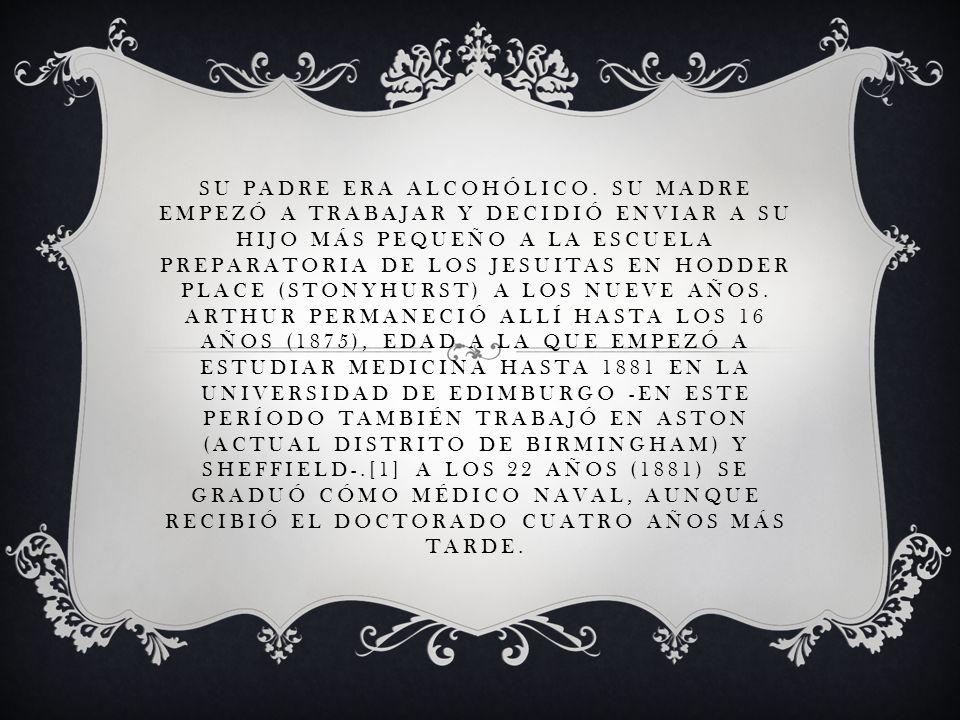 SU PADRE ERA ALCOHÓLICO. SU MADRE EMPEZÓ A TRABAJAR Y DECIDIÓ ENVIAR A SU HIJO MÁS PEQUEÑO A LA ESCUELA PREPARATORIA DE LOS JESUITAS EN HODDER PLACE (