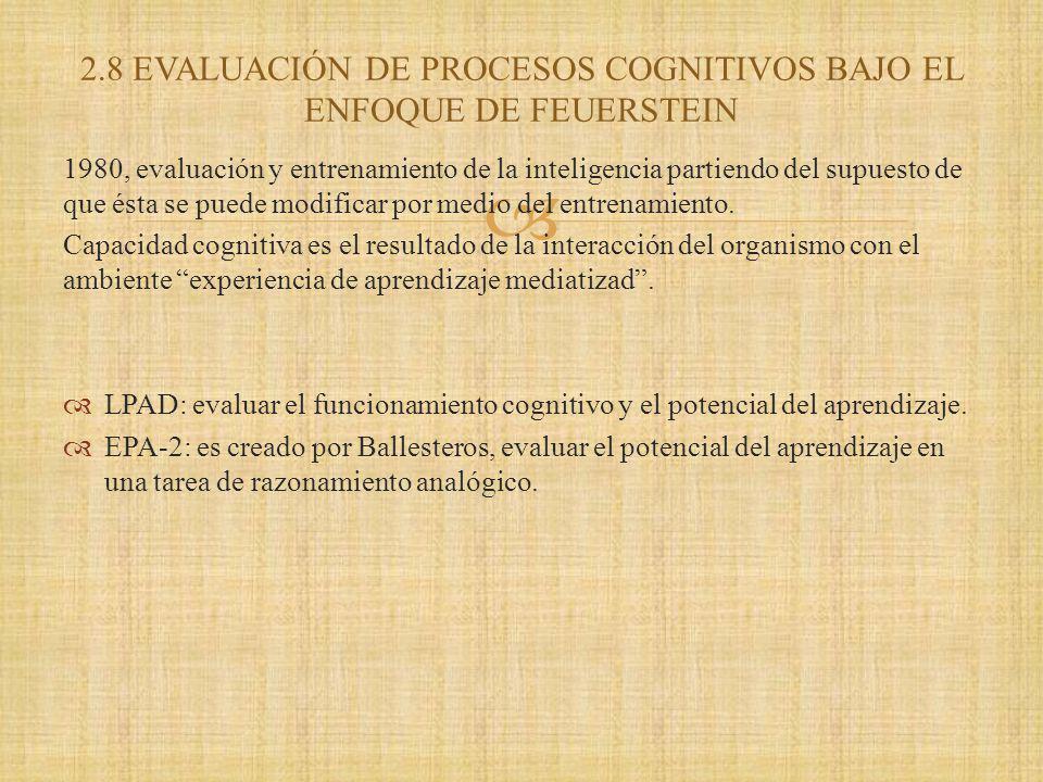 1980, evaluación y entrenamiento de la inteligencia partiendo del supuesto de que ésta se puede modificar por medio del entrenamiento.