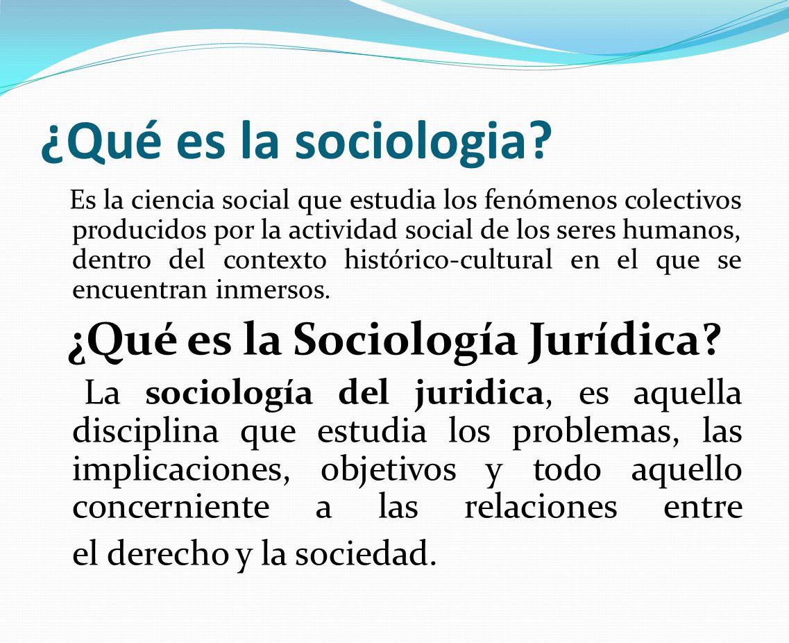¿Qué es la sociologia? Es la ciencia social que estudia los fenómenos colectivos producidos por la actividad social de los seres humanos, dentro del c