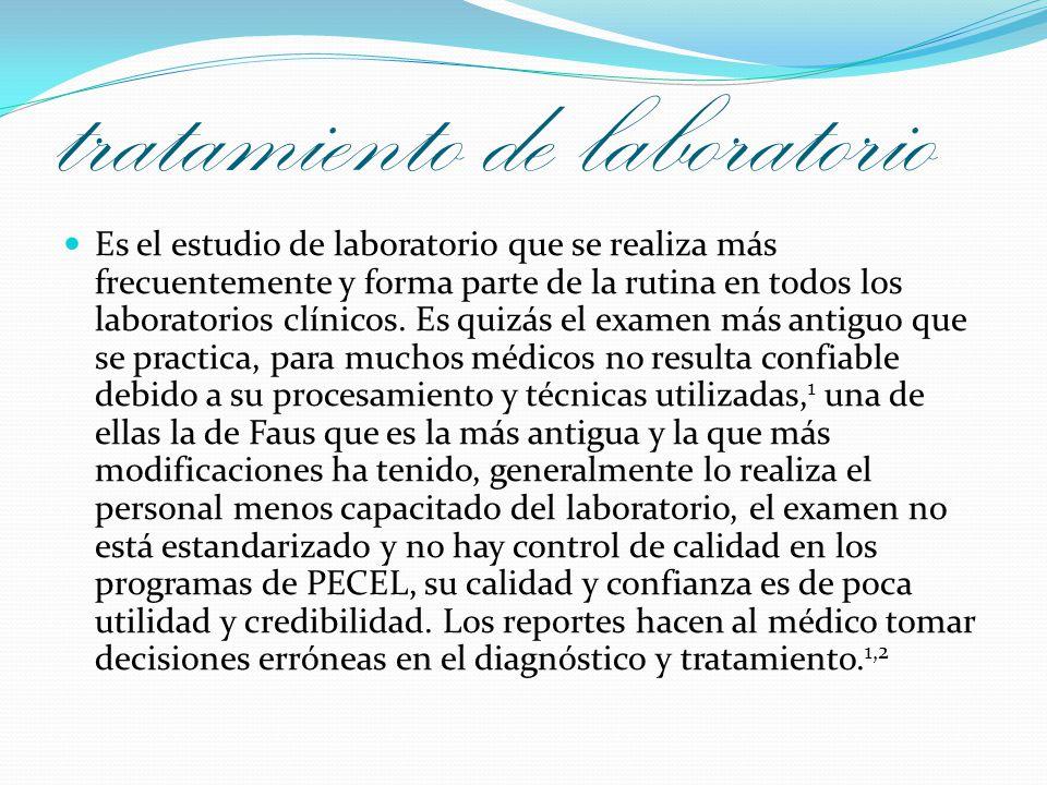 tratamiento de laboratorio Es el estudio de laboratorio que se realiza más frecuentemente y forma parte de la rutina en todos los laboratorios clínico