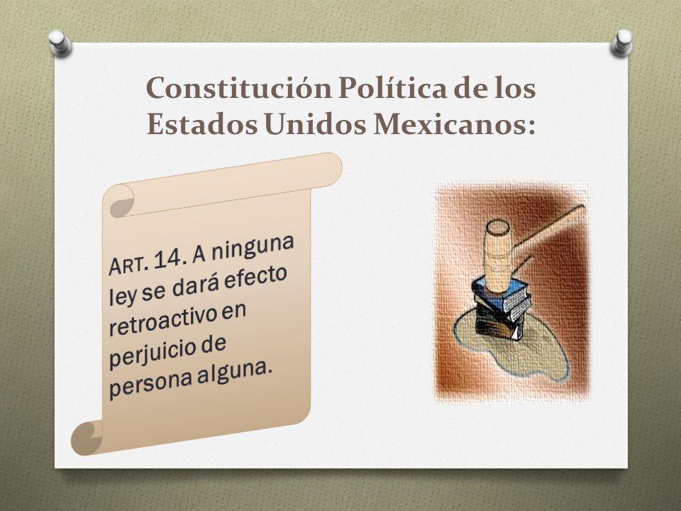 Constitución Política de los Estados Unidos Mexicanos: