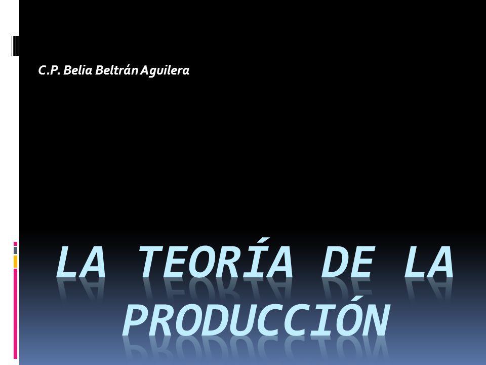 TEORÍA DE LA PRODUCCIÓN PRODUCTO TOTAL Se refiere al número de unidades producidas de un artículo con una combinación determinada de factores productivos.