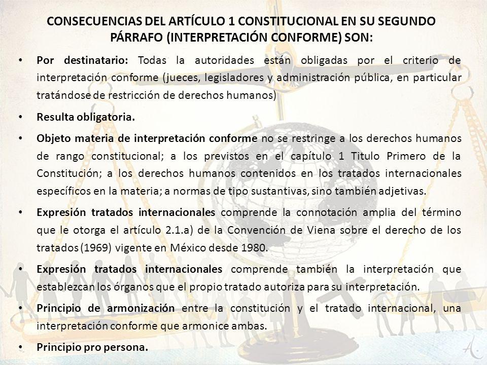 Por destinatario: Todas la autoridades están obligadas por el criterio de interpretación conforme (jueces, legisladores y administración pública, en p