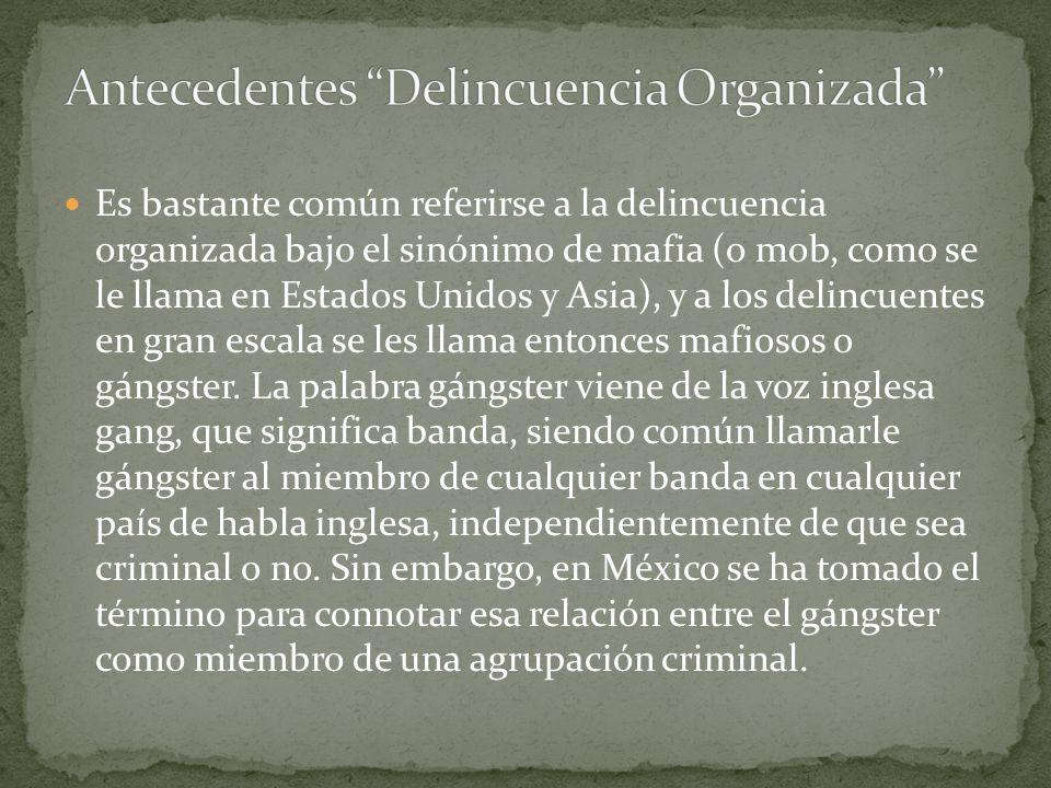 Delincuencia: Conjunto de infracciones de fuerte incidencia social cometidas contra el orden público.