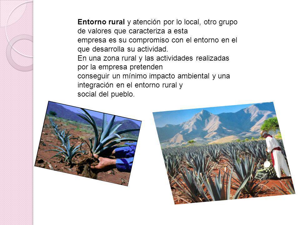 Entorno rural y atención por lo local, otro grupo de valores que caracteriza a esta empresa es su compromiso con el entorno en el que desarrolla su ac
