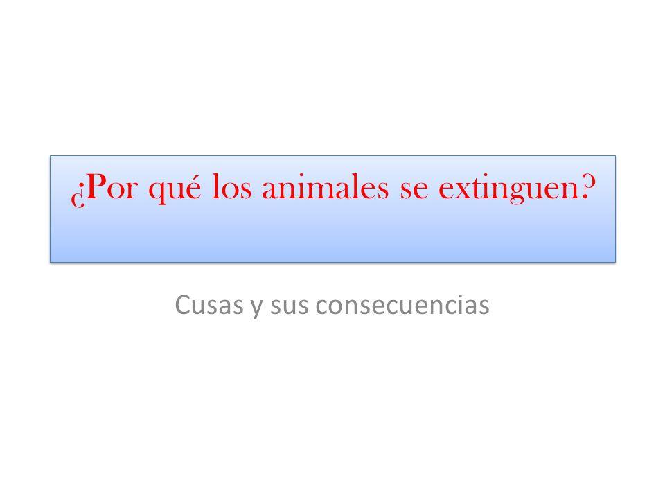 causas Las causas de la extincion de los animales pueden separarse en varios grupos según su origen.