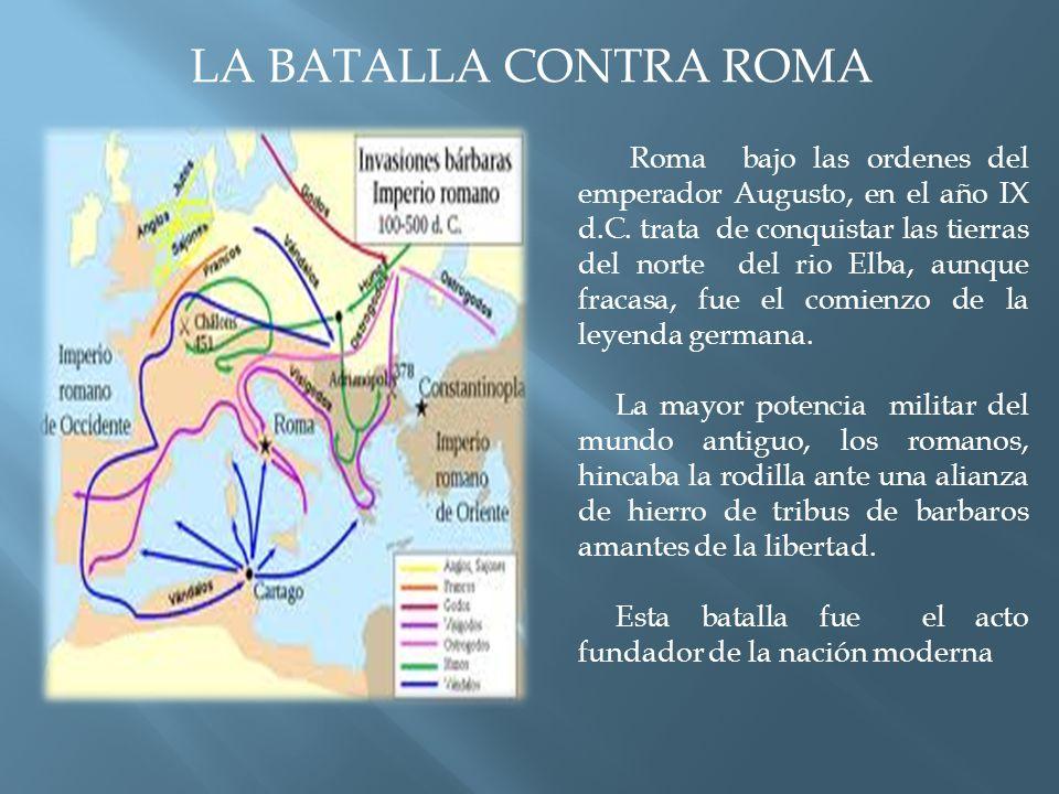 Roma bajo las ordenes del emperador Augusto, en el año IX d.C.