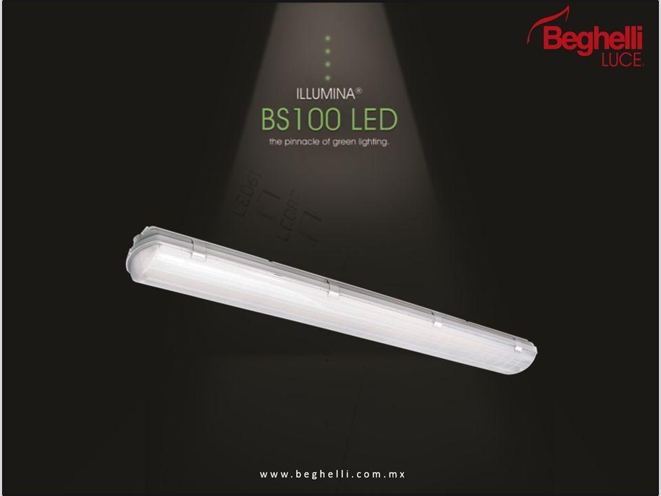 BS 100 LED Ensamble: Diseño sencillo de 3 piezas que permite un fácil armado sin herramientas.