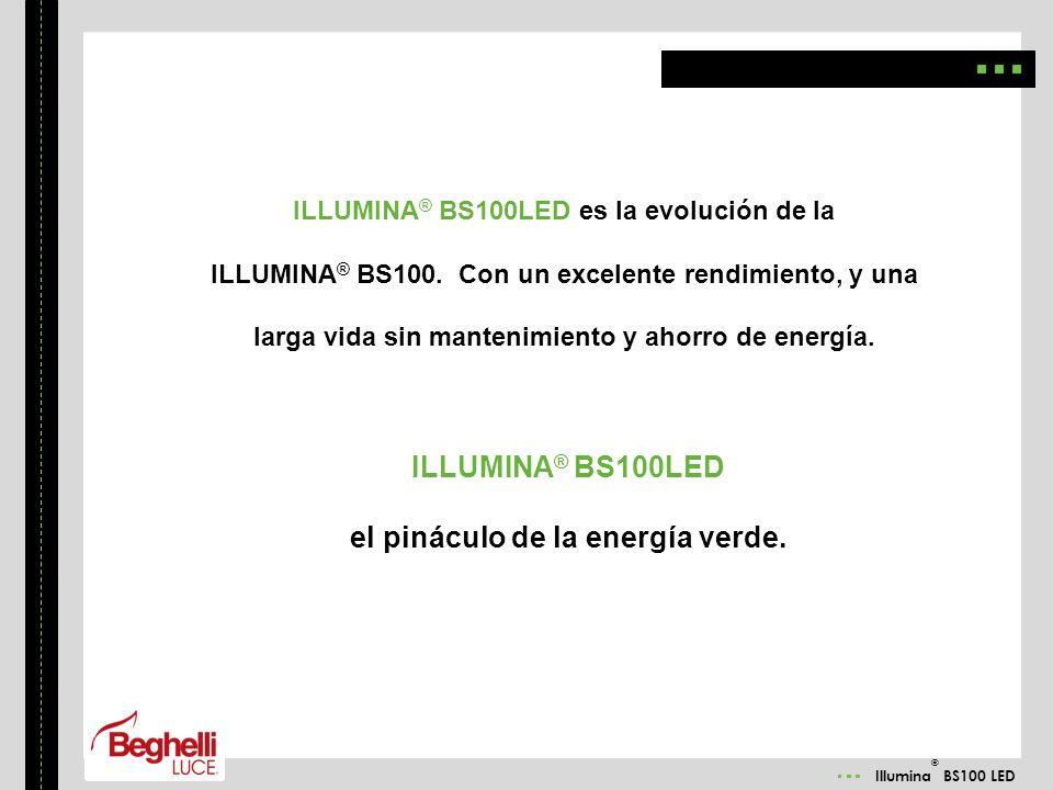 Illumina ® BS100 LED ILLUMINA ® BS100LED es la evolución de la ILLUMINA ® BS100. Con un excelente rendimiento, y una larga vida sin mantenimiento y ah