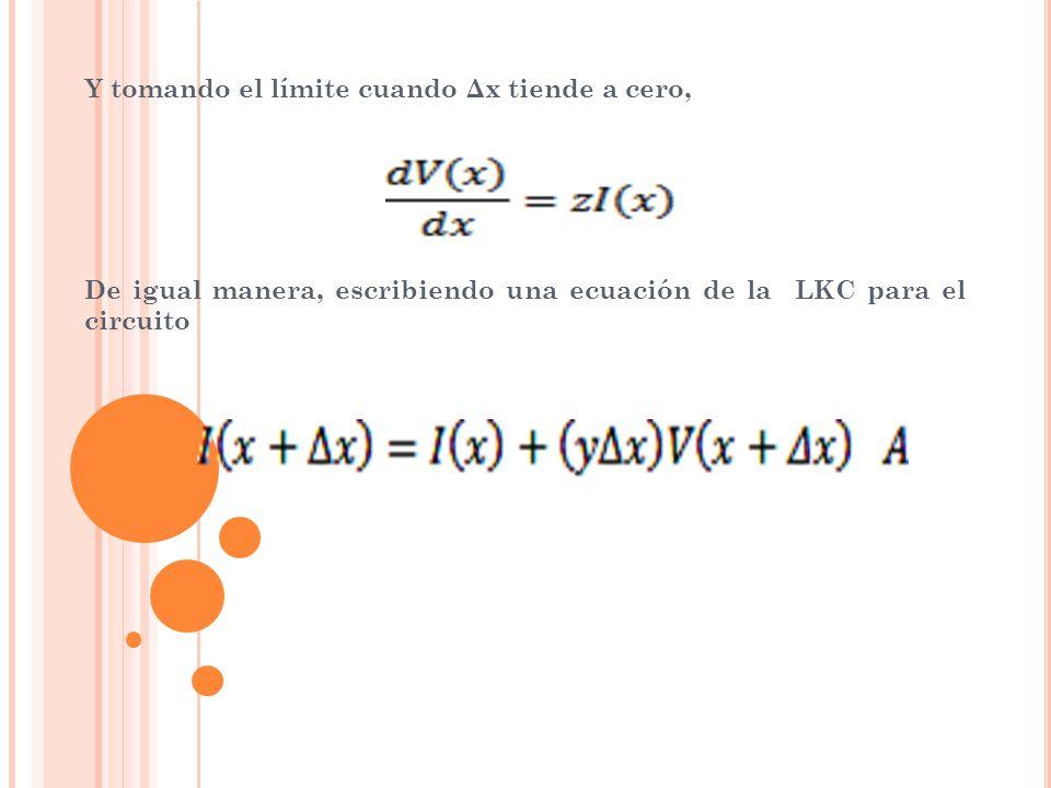 Reacomodando los términos, Y tomando el límite cuando Δx tiende a cero,