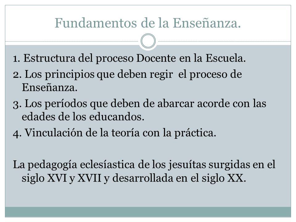 Indicaciones teóricas según Comenius.Continúa.