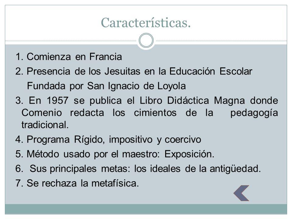 Indicaciones teóricas según Comenius.