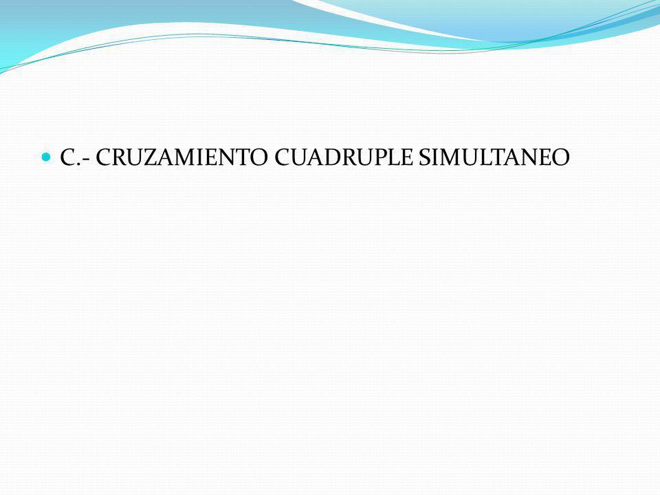 B.- CRUZAMIENTO ALTERNATIVO 1.- CRUZAMIENTO DOBLE ROTATIVO 2.- CRUZAMIENTO TRIPLE ROTATIVO