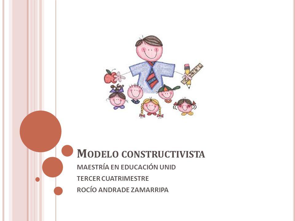 M ODELO CONSTRUCTIVISTA MAESTRÍA EN EDUCACIÓN UNID TERCER CUATRIMESTRE ROCÍO ANDRADE ZAMARRIPA