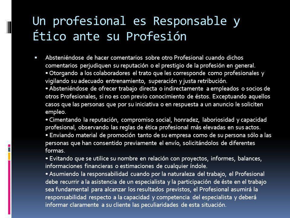 Absteniéndose de hacer comentarios sobre otro Profesional cuando dichos comentarios perjudiquen su reputación o el prestigio de la profesión en general.