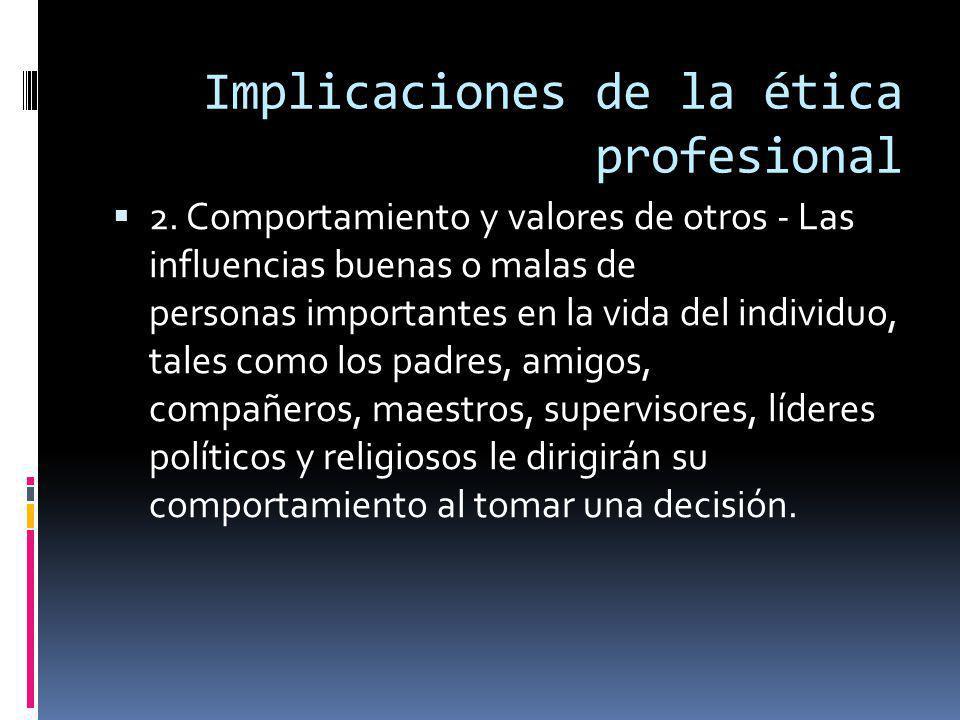 Implicaciones de la ética profesional 2.