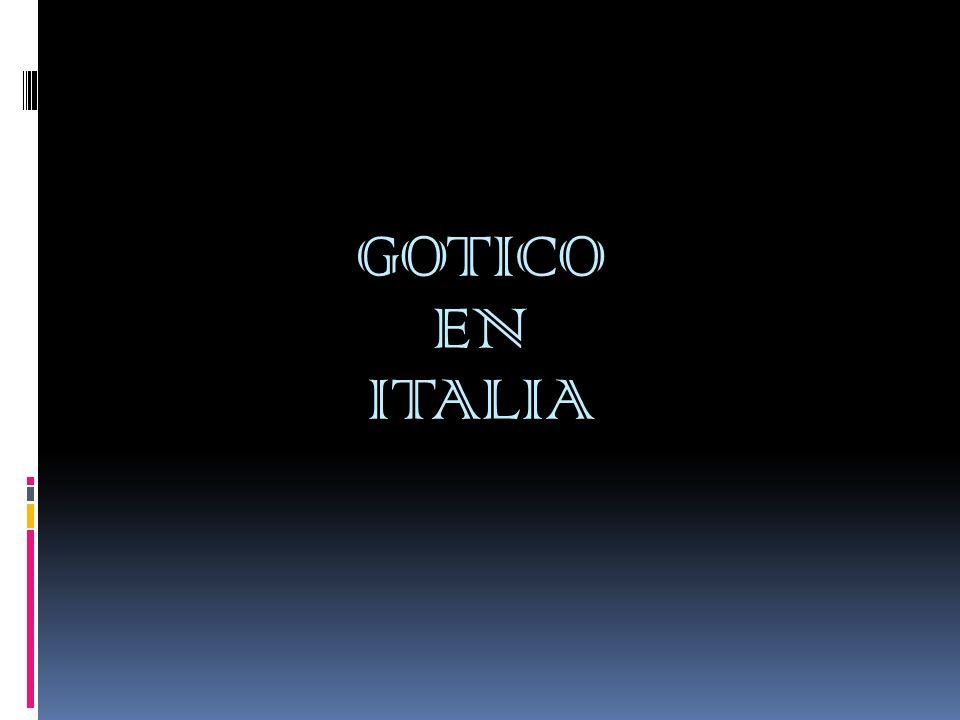 En el gótico italiano, en general, no coincide con los principios estilísticos del gótico francés.