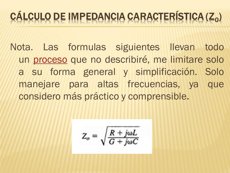Nota. Las formulas siguientes llevan todo un proceso que no describiré, me limitare solo a su forma general y simplificación. Solo manejare para altas