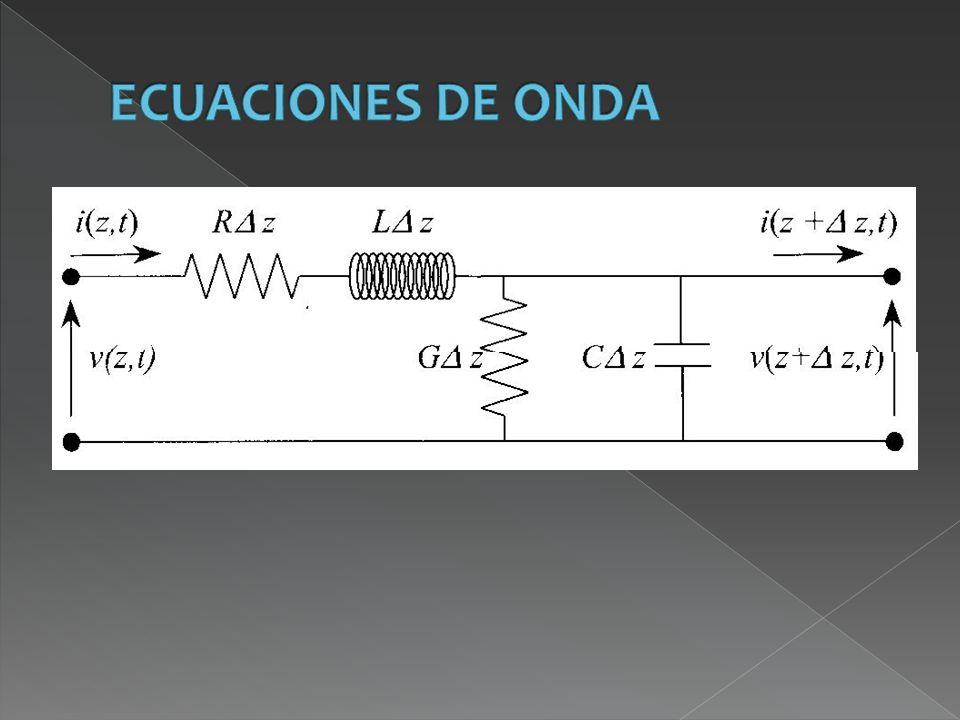 Modelo circuital de la línea bifilar ideal En una línea de transmisión hay dimensiones, las transversales, que cumplen la condición cuasiestática (D << λ), pero la otra dimensión (longitudinal) habitualmente no la cumple.