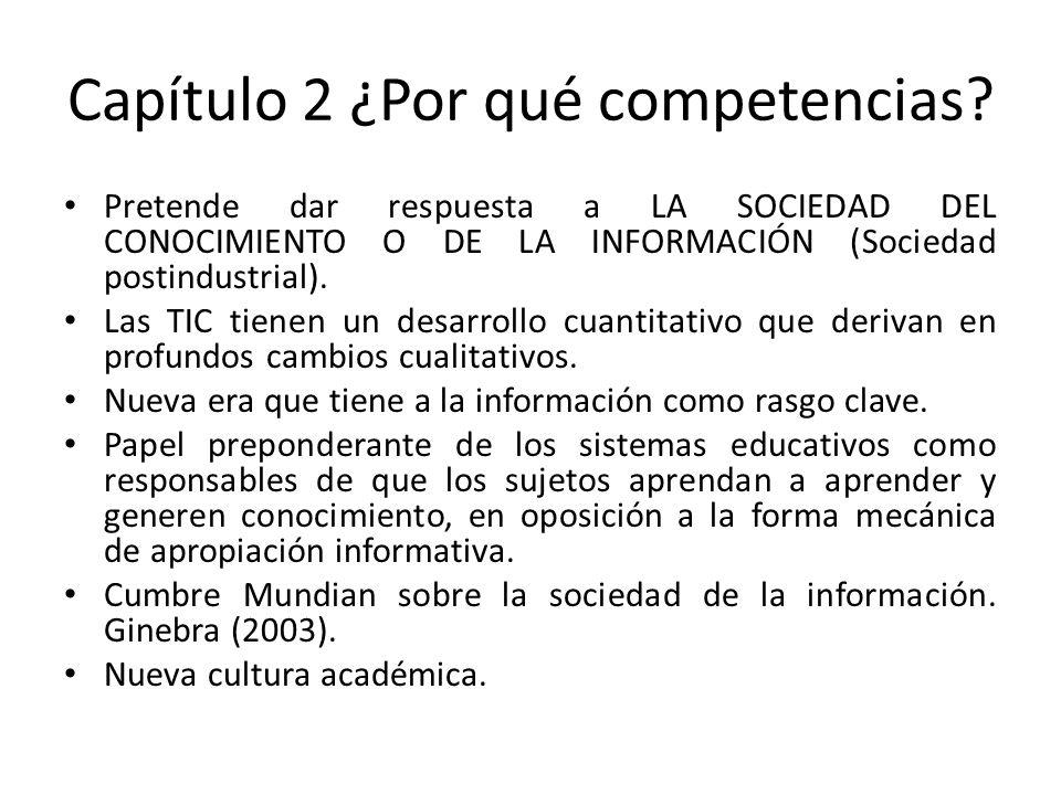 Capítulo 3 La educación y las competencias Educación -Es una acción práctica que tiene dos resultados: capacitación y formación.