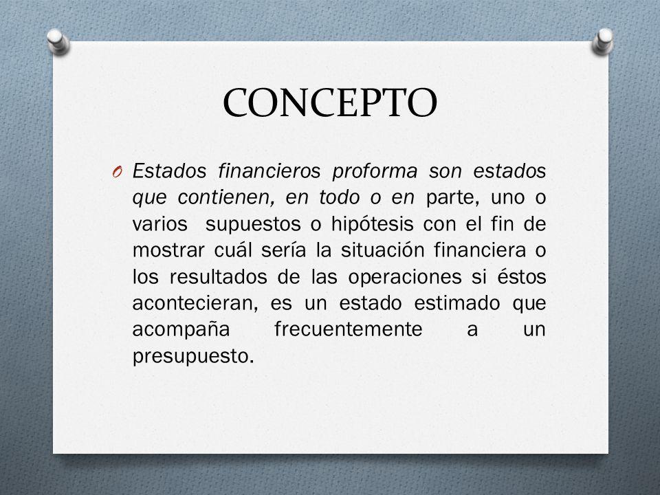 O El objeto de un estado financiero es proporcionar información sobre las operaciones realizadas.