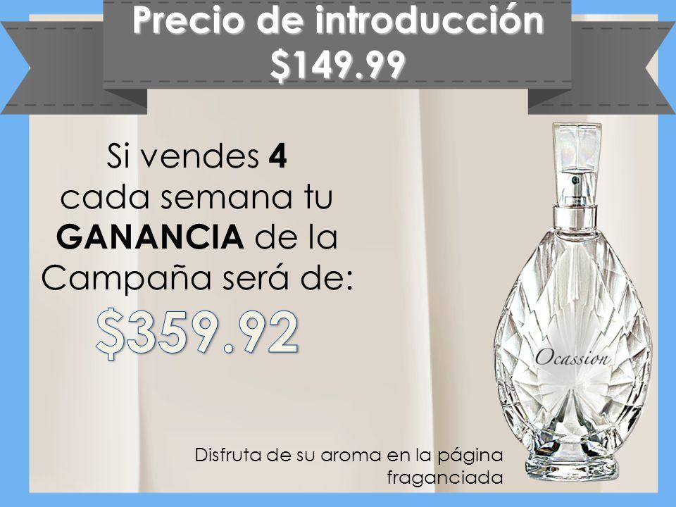 Precio de introducción $149.99 Disfruta de su aroma en la página fraganciada