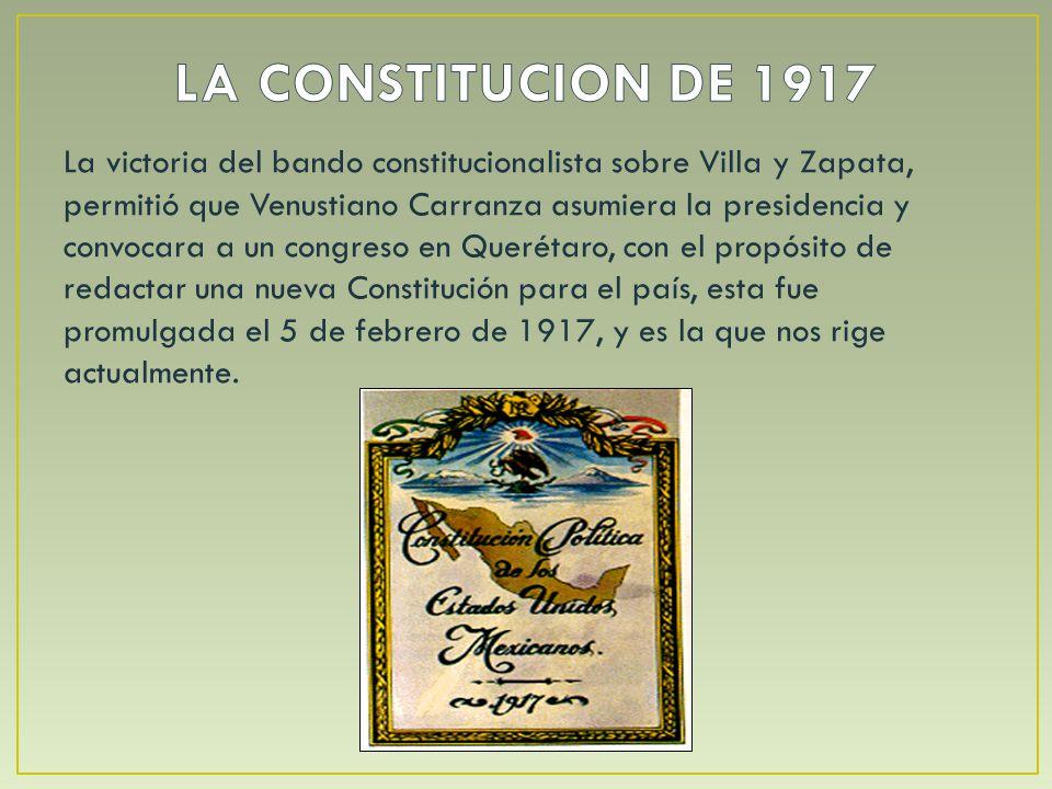 Esta nueva Constitución, retomó los principios liberales que se encontraban ya en la de 1857 y también incorporó principios nacionalistas y algunas demandas sociales por las que el pueblo había luchado durante la Revolución.