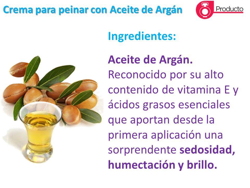 Ingredientes: Aceite de Argán.