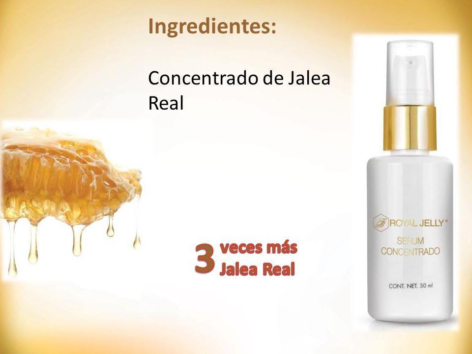 Ingredientes: Concentrado de Jalea Real