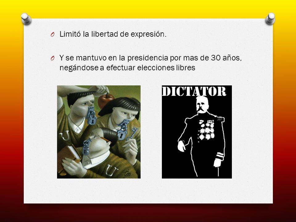 El gran descontento del pueblo durante el Porfiriato provocó el estallido de la Revolución Mexicana.