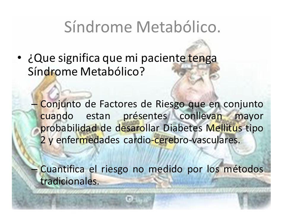 Síndrome Metabólico.¿Que significa que mi paciente tenga Síndrome Metabólico.
