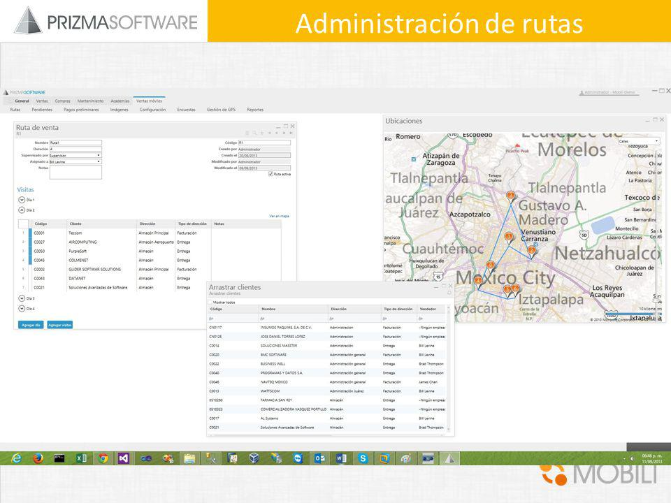 Administración de rutas