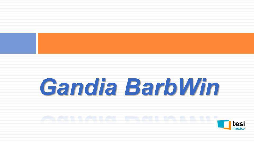 Creación de tabulares * Entramos a Gandia BarbWin y abrimos nuestro estudio a trabajar