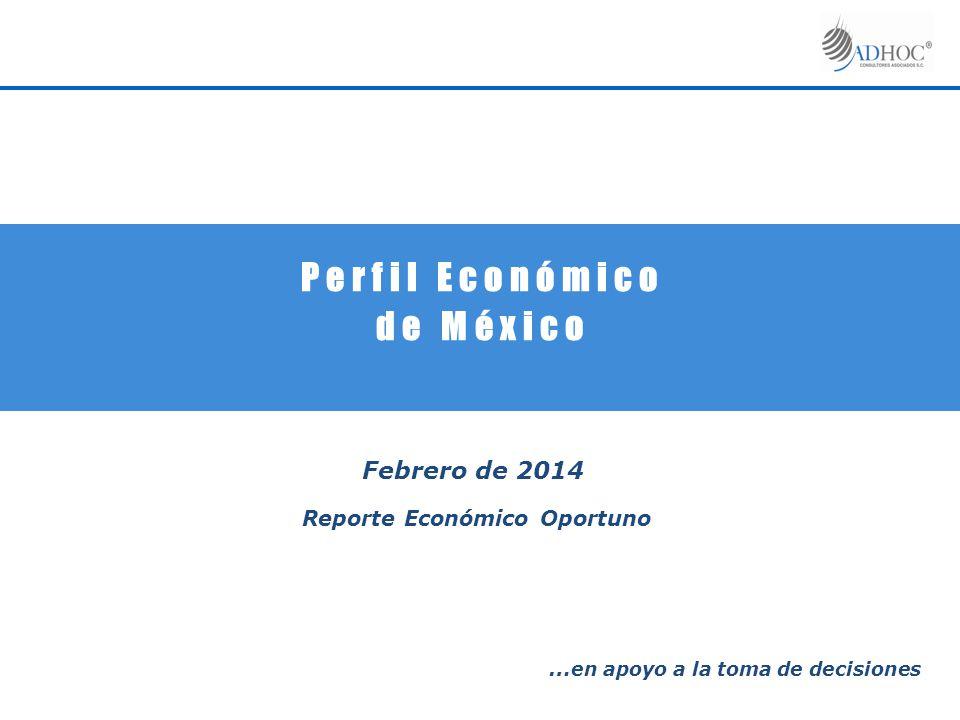 P e r f i l E c o n ó m i c o d e M é x i c o Febrero de 2014 Reporte Económico Oportuno … en apoyo a la toma de decisiones